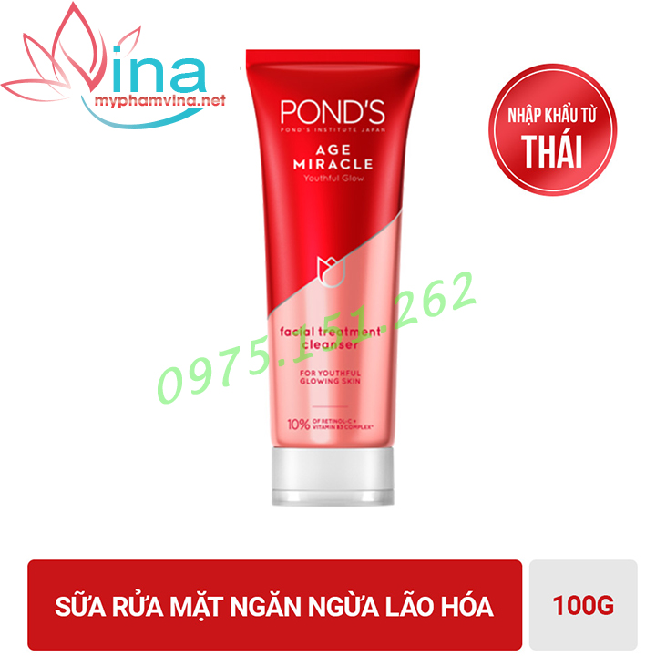 Sữa rửa mặt PONDS AGE MIRACLE CELL REGEN 100ml 1
