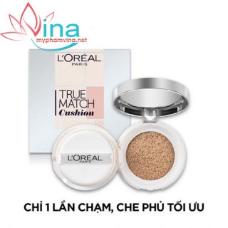 Phấn nước loreal true match silky foundation cushion n1 da sáng