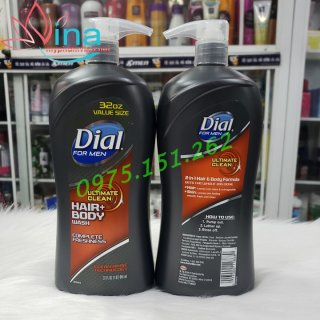 Sữa Tắm Gội Cho Nam Dial  Ultimate Clean Ultimate Clean Hair And Body Wash 950ml