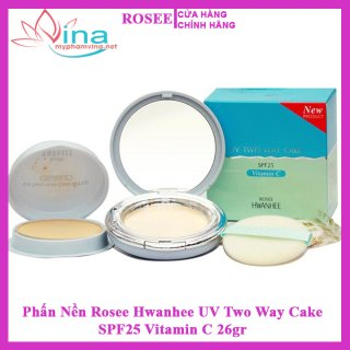Phấn Nền Rosee Hwanhee UV Two Way Cake SPF25 Vitamin C 26GR 1